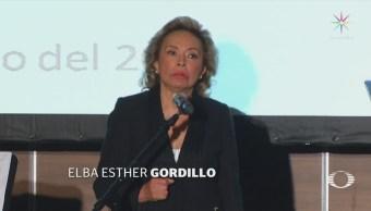 Elba Esther Gordillo reaparece y proclama su triunfo