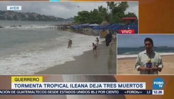 Emiten alerta por efectos de 'John' e 'Ileana' en Acapulco, Guerrero