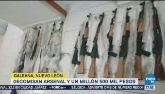 Encuentran Arsenal Tráiler Galeana, Nl Elementos De La Pgr