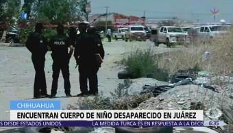 Encuentran cuerpo de niño desaparecido en Ciudad Juárez