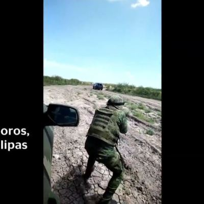 Militar graba enfrentamiento contra presuntos delincuentes en Matamoros, Tamaulipas