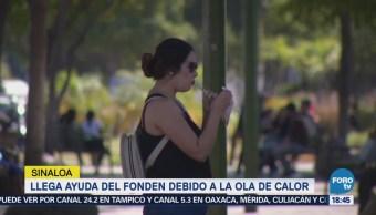 Entregan apoyos para enfrentar el calor en Sinaloa