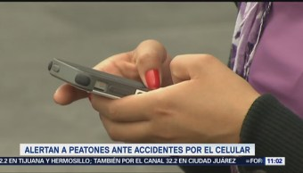 Extra, Extra: Alertan a peatones ante accidentes por el celular