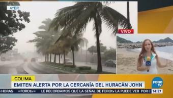 Emiten Alerta Cercanía Huracán John En Colima