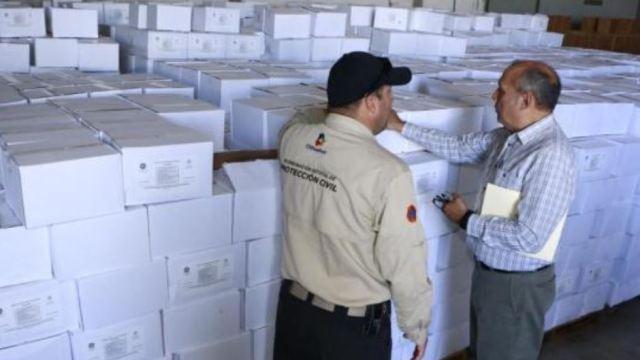 Entrega de apoyo del Fonden en Chihuahua por ola de calor