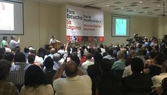 Foro por la Pacificación y Reconciliación Nacional inicia hoy en Coahuila