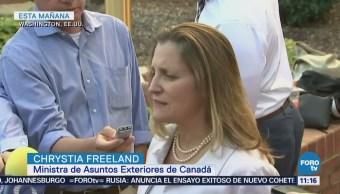 Freeland reitera buena voluntad en negociaciones de TLCAN