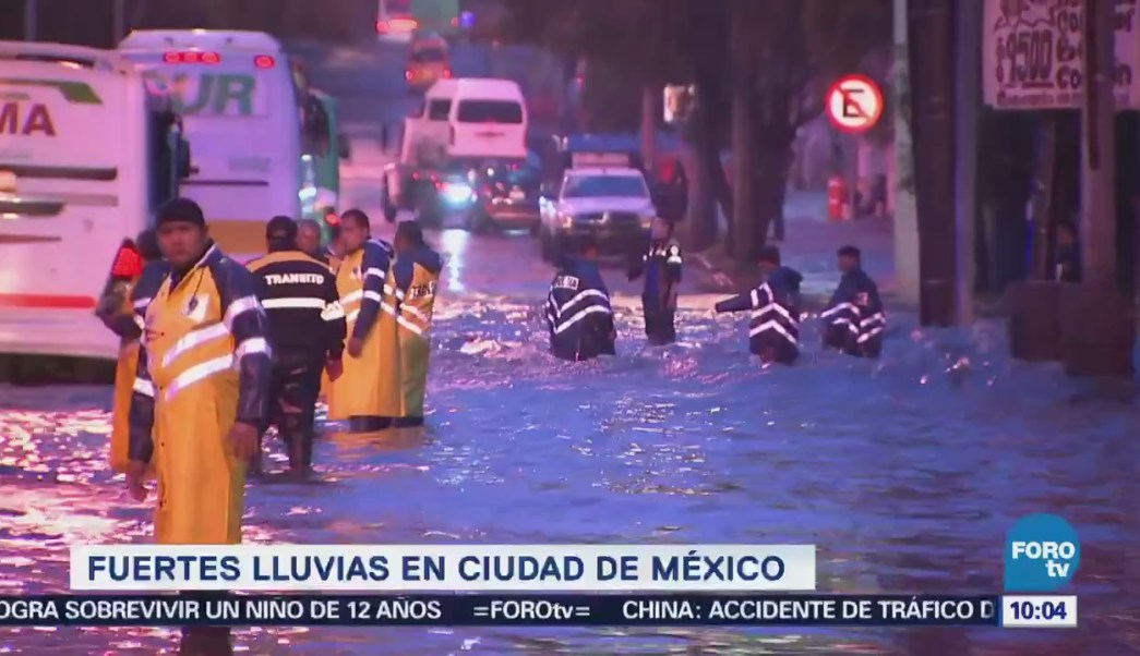 Fuertes Lluvias Cdmx Inundaciones Oriente Encharcamientos