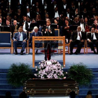 Celebridades rinden homenaje a 'La Reina de Soul', Aretha Franklin