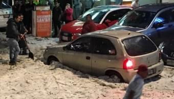 Granizada afecta tránsito en Huixquilucan y Naucalpan
