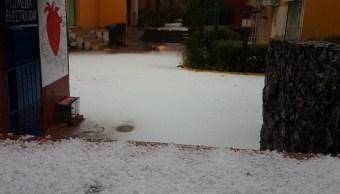 Cae granizo en Tlalpan y Coyoacán, reporta Protección Civil