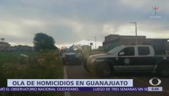 Guanajuato registra 12 homicidios en 24 horas
