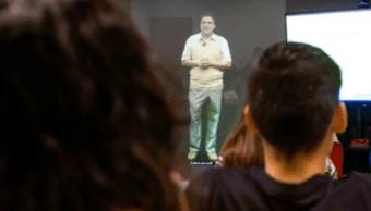 Holograma Profesor Clases Cinco Planteles Tec Tecnológico Monterrey