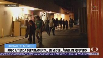 Hombres roban tienda departamental en Miguel Ángel de Quevedo, CDXM