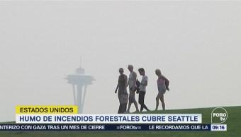 Humo de incendios forestales afecta a Seattle