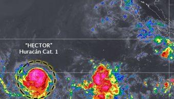 Héctor se convierte en huracán categoría 1