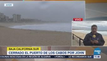 Huracán 'John' provoca el cierre de los puertos en Los Cabos