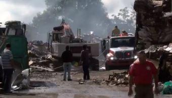 Empresa recicladora se incendia en Jalisco
