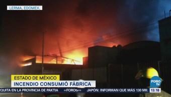 Incendio consume empresa de residuos peligrosos
