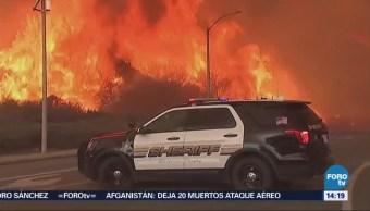 Incendio Holyfire Sigue Sin Control California EU