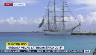 Inicia la Regata Velas Latinoamérica 2018 en Cozumel, Quintana Roo
