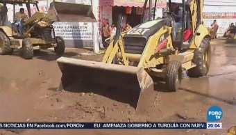 Limpieza Zonas Afectadas Por Inundaciones En Chimalhuacán