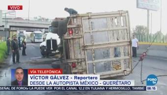 Inician maniobras para retirar vehículos en la autopista México-Querétaro