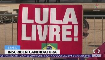 Inscriben candidatura presidencial de Lula da Silva
