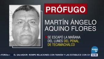 Interno escapa del penal de Tecamachalco, Puebla