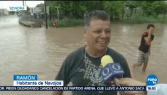 Inundaciones Atrapan Decenas Personas Sonora Clima, Mal Tiempo