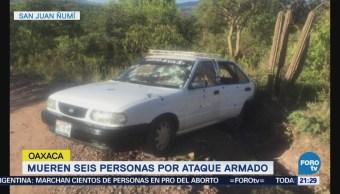 Investigan Asesinato Seis Personas Oaxaca San Juan Ñumí