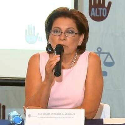 Aumentan 56% los secuestros durante gobierno de Peña Nieto: Miranda de Wallace