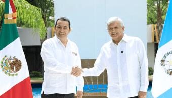 presidente de Guatemala en Chiapas