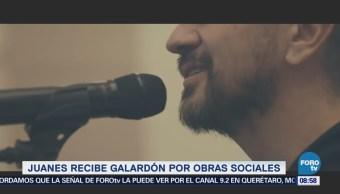 'Juanes' es premiado por su labor altruista en España