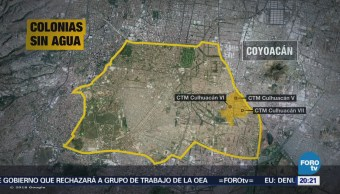 Sin agua en Iztapalapa y Coyoacán en CDMX