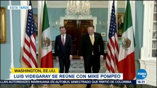 Luis Videgaray Mike Pompeo Reunión Privada Migración, Comercio TLCAN