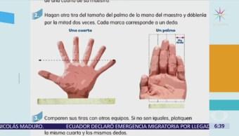Libro SEP publica imagen de mano con 6 dedos