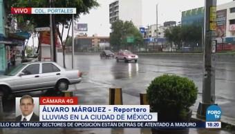 Llueve en siete delegaciones de la Ciudad de México