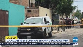 Localizan 9 cuerpos en una casa de Guadalajara