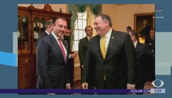 Luis Videgaray se reúne con Michael Pompeo; tratan temas migratorios