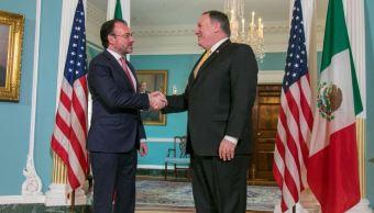 Luis Videgaray y Mike Pomeo analizan la relación México-EU