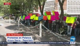 Manifestación protesta en Polanco contra Elba Esther Gordillo