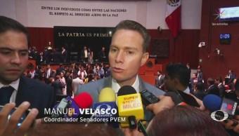 Manuel Velasco Defiende Senado La Gubernatura