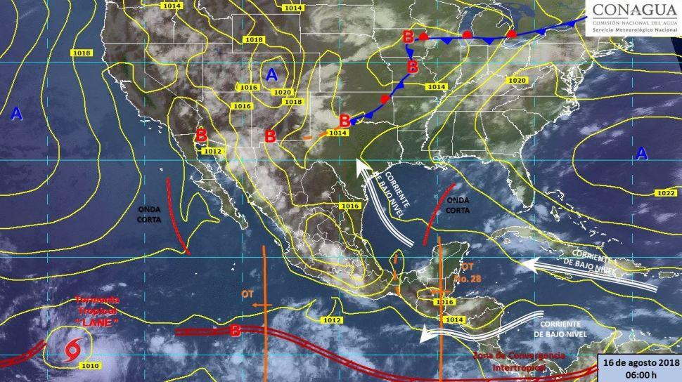 Onda tropical 28 traerá tormentas en la mayor parte de México