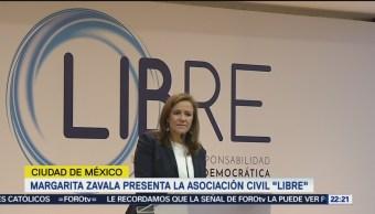 Margarita Zavala presenta la asociación civil LIBRE