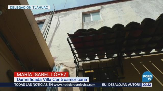Más de dos mil familias de Tláhuac en riesgo tras sismo