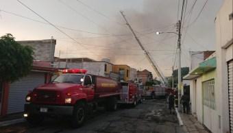 Mercado Tepetate de Querétaro arde por incendio; no hay heridos