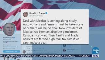 Negociaciones Tlcan México Van Bien Donald Trump
