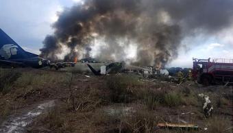 Niña con quemaduras por accidente de avión en Durango
