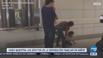 Niño migrante rechaza a sus padres tras meses separados